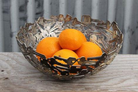 آثار دیدنی ساخته شده با کلیدهای فلزی -  ساخت ظروف تزیینی - ساخت گوی تزیینی