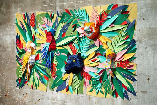 تابلو کاغذی - Mlle Hipolyte - طراح کاغذی - برش کاغذ