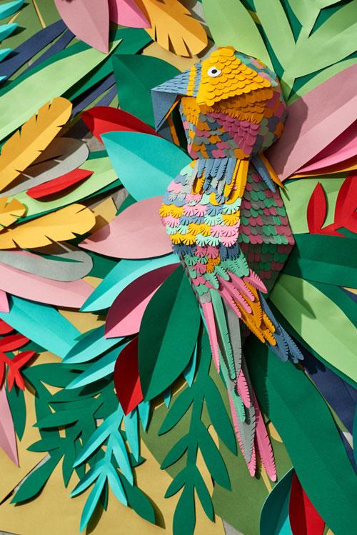 تابلویی از جنس کاغذی - Mlle Hipolyte - طراح کاغذ - برش کاغذ