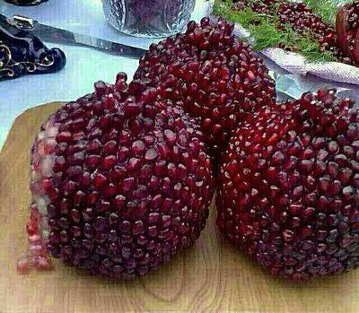 طرز تهیه ژله انار توپی - ژله مجلسی - تزیین ژله - ژله میوه ای