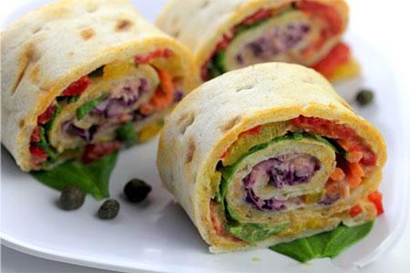 آشپزی آسان فست فود  , طرز تهیه ساندویچ رولتی سبزیجات