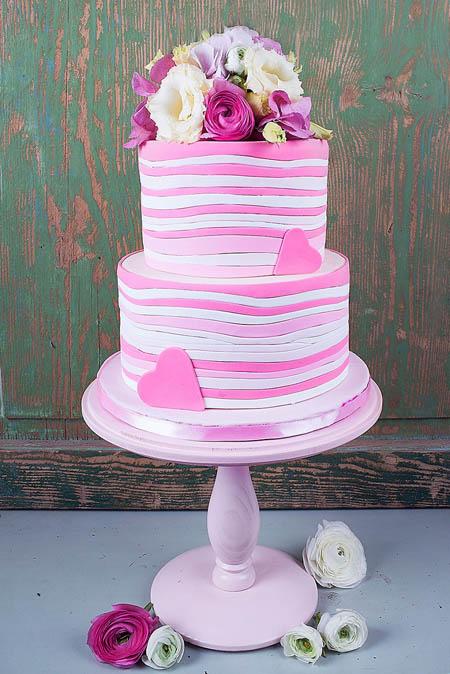 مدل کیک عروس نو عروس  , مدل های جدید کیک عروسی (1)