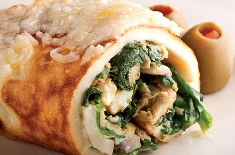 آشپزی آسان انواع غذاها  , طرز تهیه رول مرغ و اسفناج و پنیر