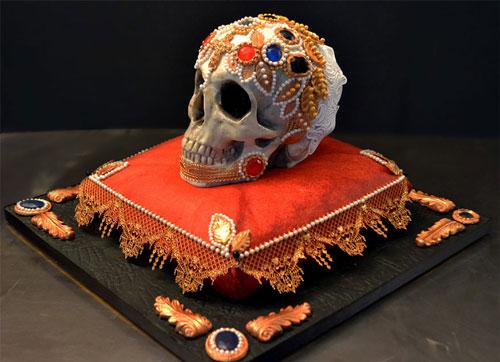 کیک های چندش آور و ترسناک - کیک به شکل اسکلت