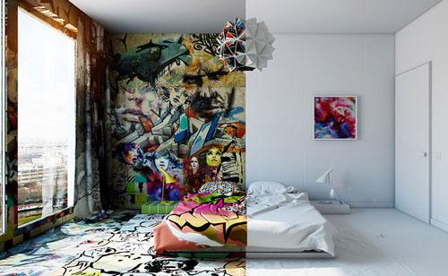 هنر خیابانی, هنرمند اوکراینی , Pavel Vetrov , نقاشی های مفهومی
