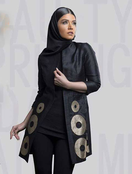 مدل جدید مانتو - مدل مانتو مجلسی - مانتو دخترانه - آیدا رحیمی