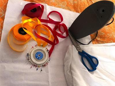 روش دوخت کوسن - آموزش تصویری دوخت روکش کوسن با روبان - آموزش خیاطی