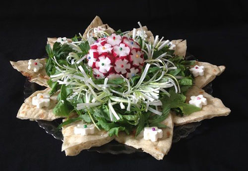 نمونه تزیین نان پنیر سبزی افطار - مجله تصویر زندگی