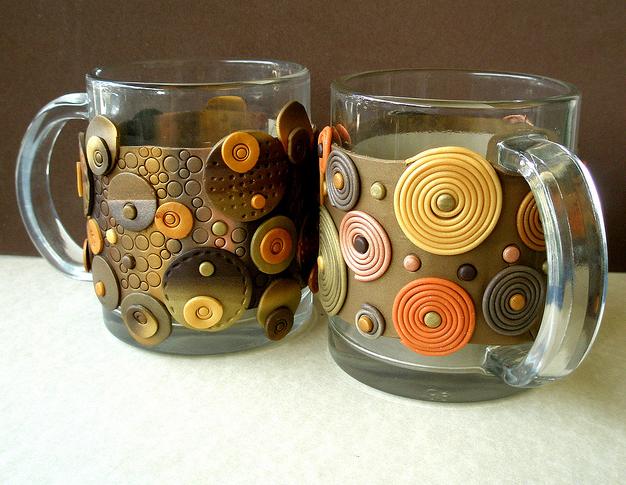 تزیین ظروف با خمیر فیمو - تزیین ظرف یا خمیر