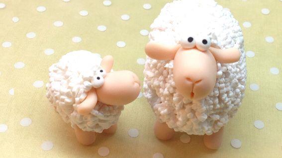 آموزش ساخت گوسفند پشمالو با خمیر پلیمری