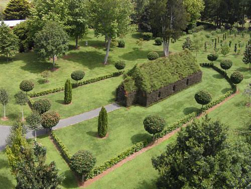تصاویر دیدنی عکس و کلیپ  , کلیسای زیبا از درختان زنده