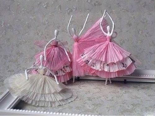 ساخت عروسک با دستمال کاغذی و سیم