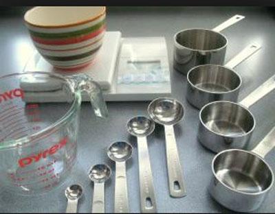 مقیاس و واحدهای اندازه گیری در آشپزی - پیمانه