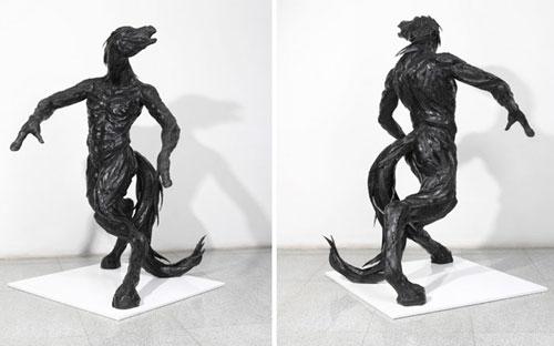 مجسمه های بازیافتی - لاستیک های بازیافتی - یونگ هو جی