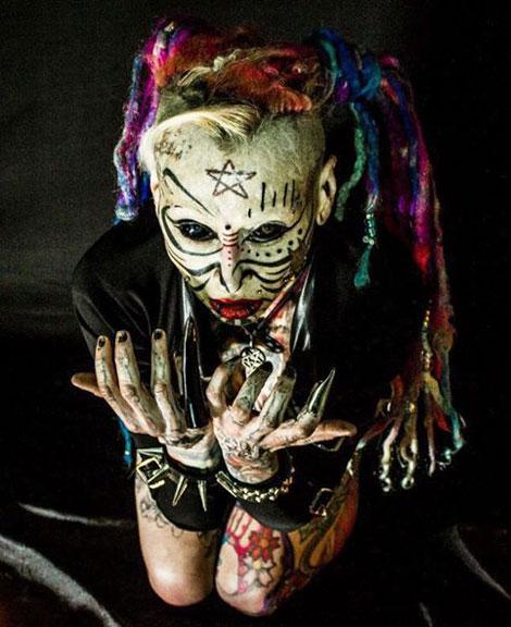 تصاویر دیدنی عکس و کلیپ  , ترسناک ترین دختر دنیا