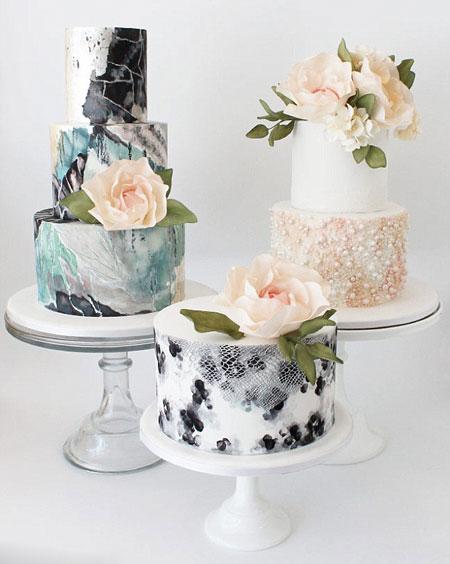 تزیین کیک عروس - عکس کیک عروسی - مدل جدید کیک