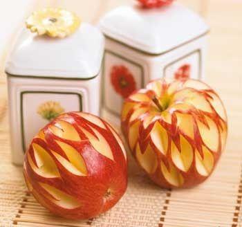میوه آرایی - تزیین سیب درختی