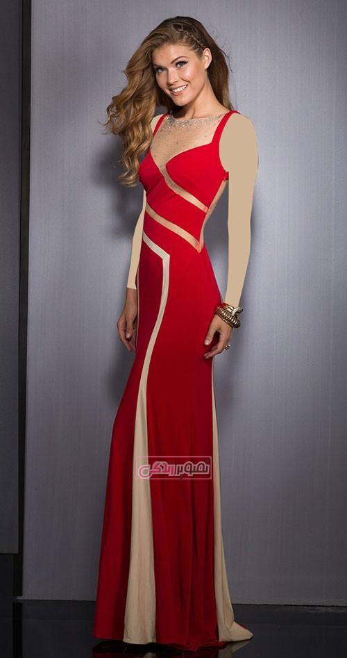 مدل جدید پیراهن مجلسی clarisse - مدل لباس مجلسی زنانه