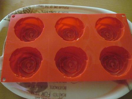 قالب دسر گل رز