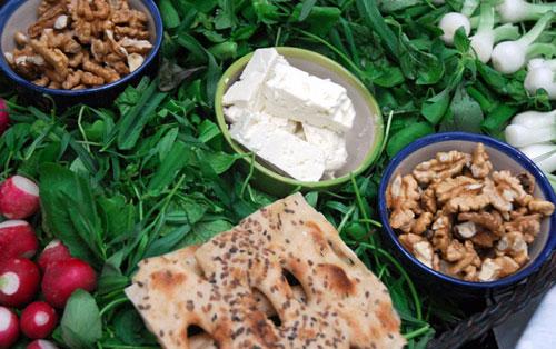 طرز تهیه نان سنگک خانگی