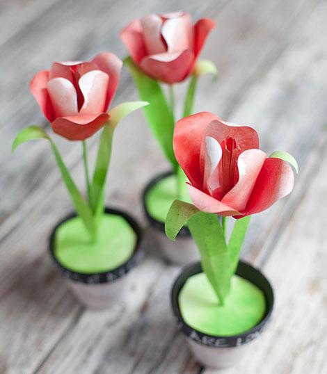 آموزش گلسازی - ساخت گل با کاغذ - درست کردن لاله کاغذی