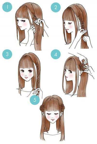 شینیون ساده دخترانه - شینیون موی ساده