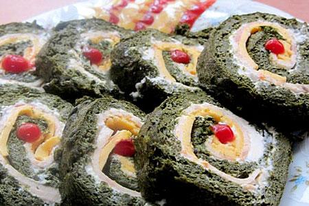 طرز تهیه رولت کوکو سبزی - کوکو سبزی رولتی