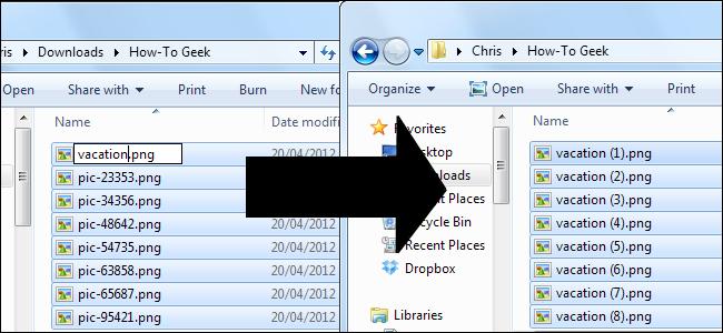 تغییر نام چند فایل بهطور همزمان در ویندوز - تغییر نام فابل ها