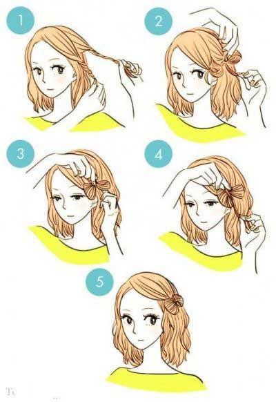 شینیون ساده دخترانه - آموزش شینیون مو