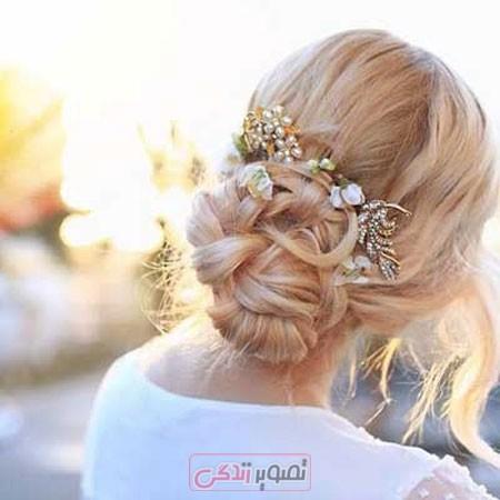 آرایش موی عروس - مدل شینیون موی عروس - مدل مو