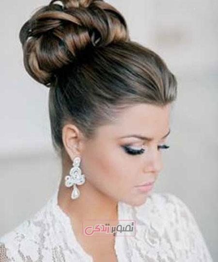 آرایش موی عروس - مدل شینیون - مدل مو