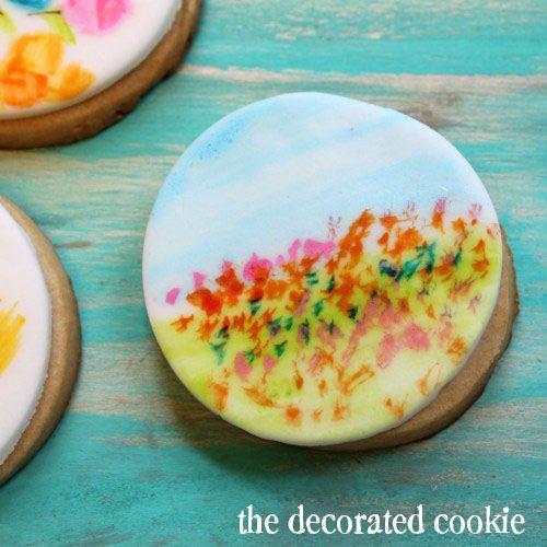 تهیه آبرنگ خوراکی برای نقاشی روی فوندانت