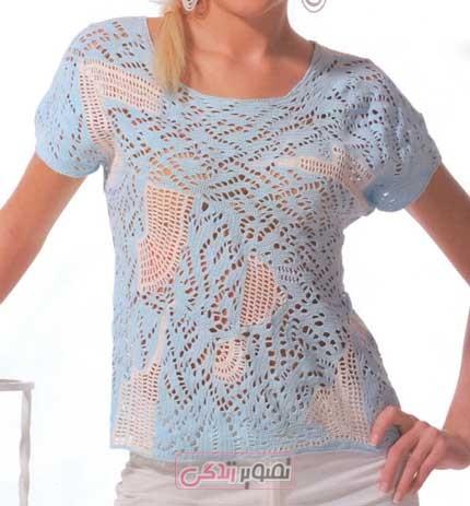 تاپ - تی شرت - قلاب بافی