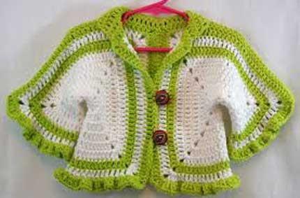 کت قلاب بافی - لباس بچگانه
