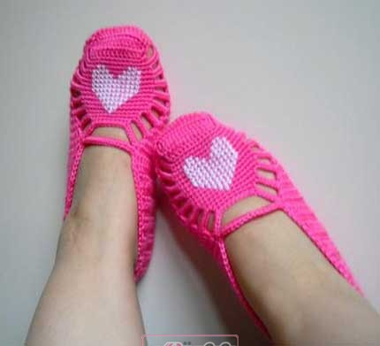 پاپوش قلاب بافی - کفش روفرشی