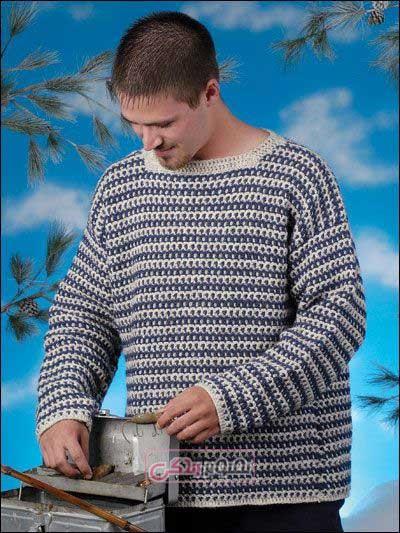 لباس مردانه قلاب بافی