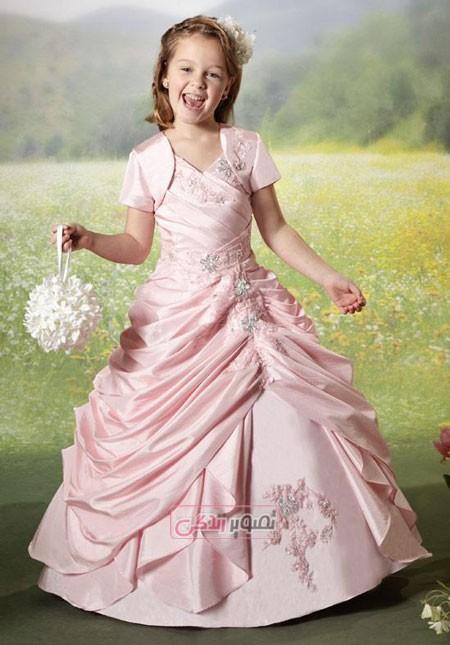 لباس مجلسی بچگانه - پیراهن مدل پرنسسی