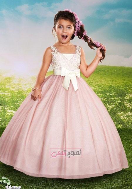 لباس مجلسی بچگانه - پیراهن پرنسسی