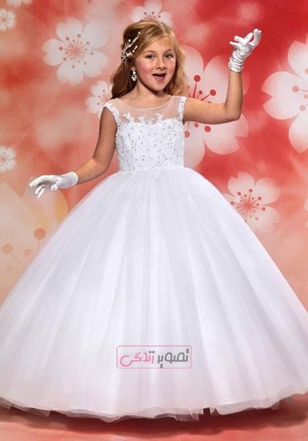 لباس مجلسی بچگانه - لباس عروس بچگانه