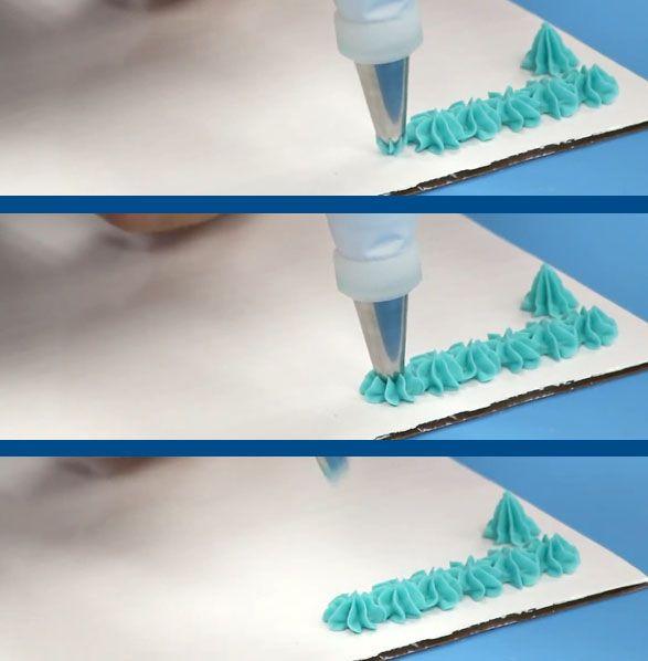 نحوه تزیین زیبای کیک با خامه به وسیله ماسوره های ستاره ای