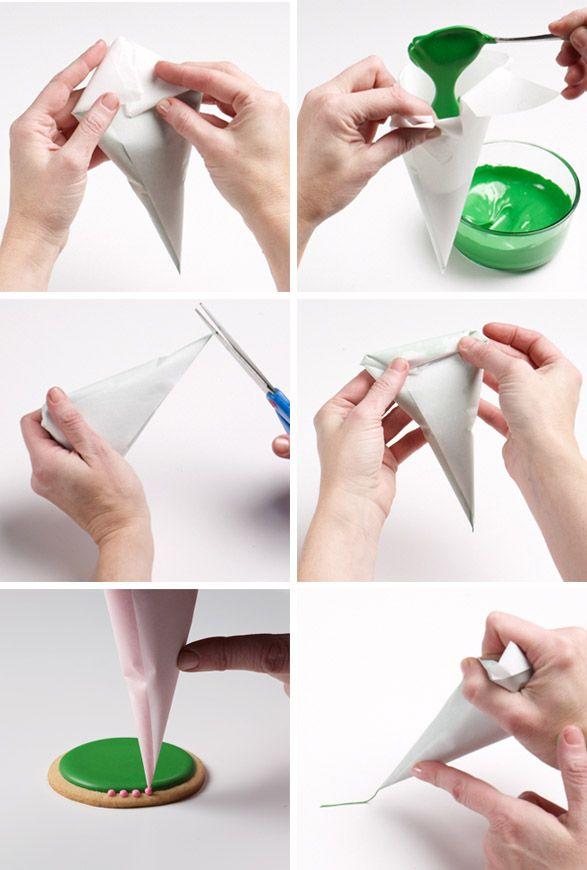آموزش ساخت قیف کاغذی ,درست کردن قیف کاغذی