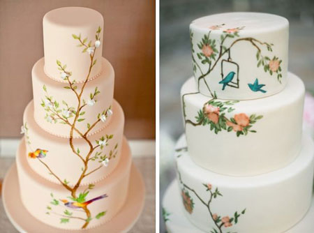نمونه طرح نقاشی روی کیک