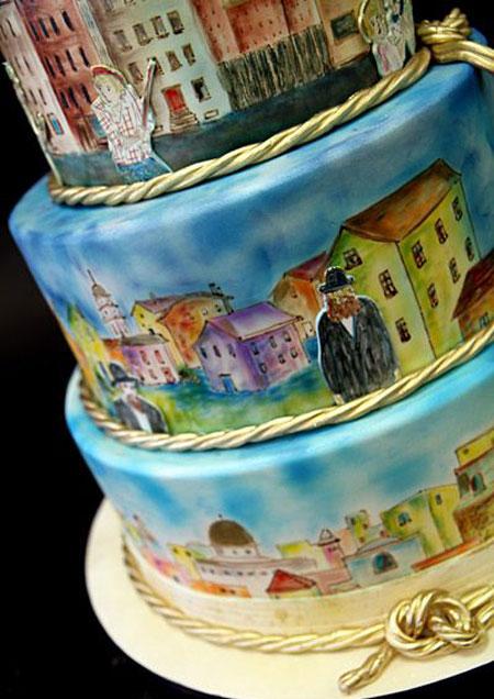عکس کیک های نقاشی شده