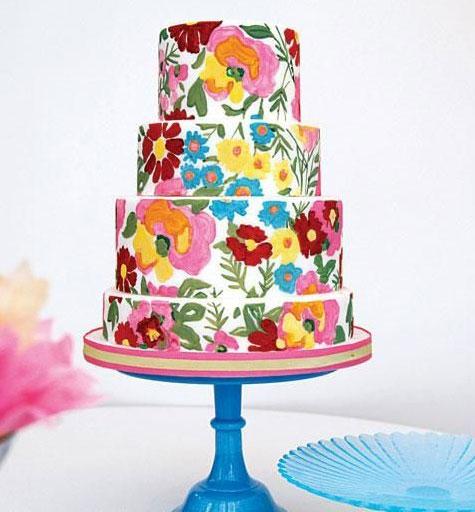 نقاشی کردن روی کیک