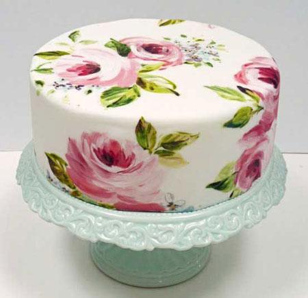 رسم طرح های زیبا روی کیک