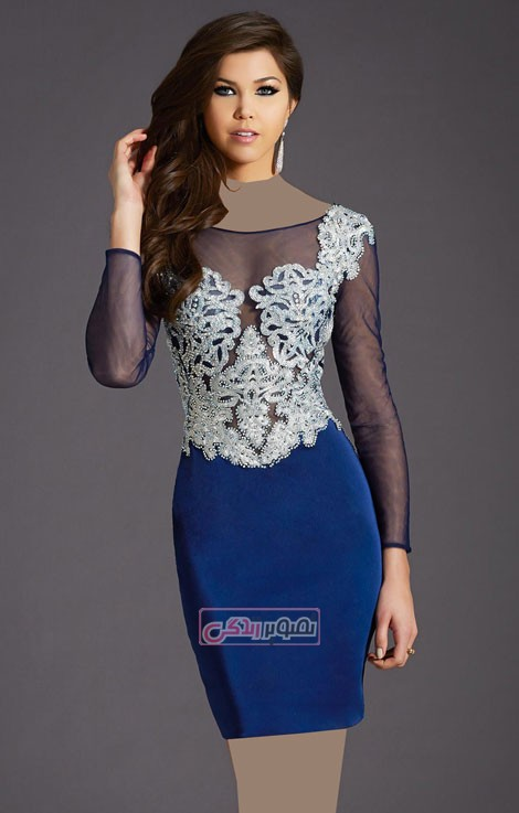 مدل لباس مجلسی - پیراهن تنگ کوتاه - لباس حریر