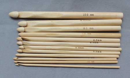 آموزش قلاب بافی - قلاب چوبی