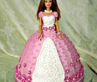 آموزش تزیین کیک تولد به شکل عروسک باربی