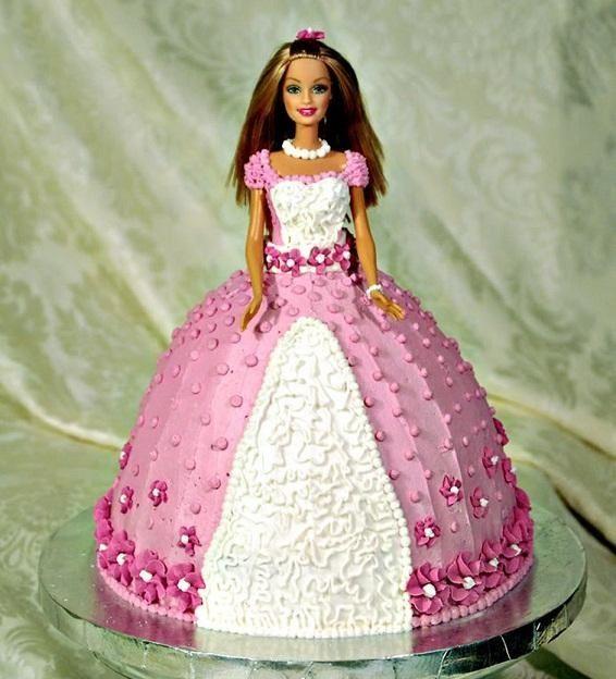 آموزش تزیین کیک تولد به شکل باربی - عکس کیک تولد