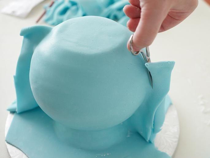 تزئین کیک تولد - تزئین کیک به شکل قوری - آموزش تزئین کیک